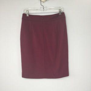 Calvin Klein Skirts - Calvin Klein cranberry knit pencil skirt